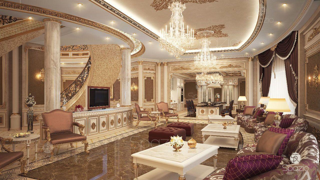 Luxury Palace Interior Design In The Uae Interior Design Dubai Classic Interior Design Luxury House Interior Design