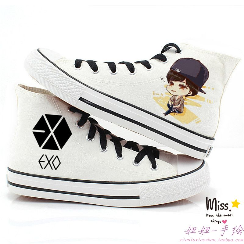 Summer doodle exo in high lacing kai skateboarding shoes sports running  shoes US $30.34