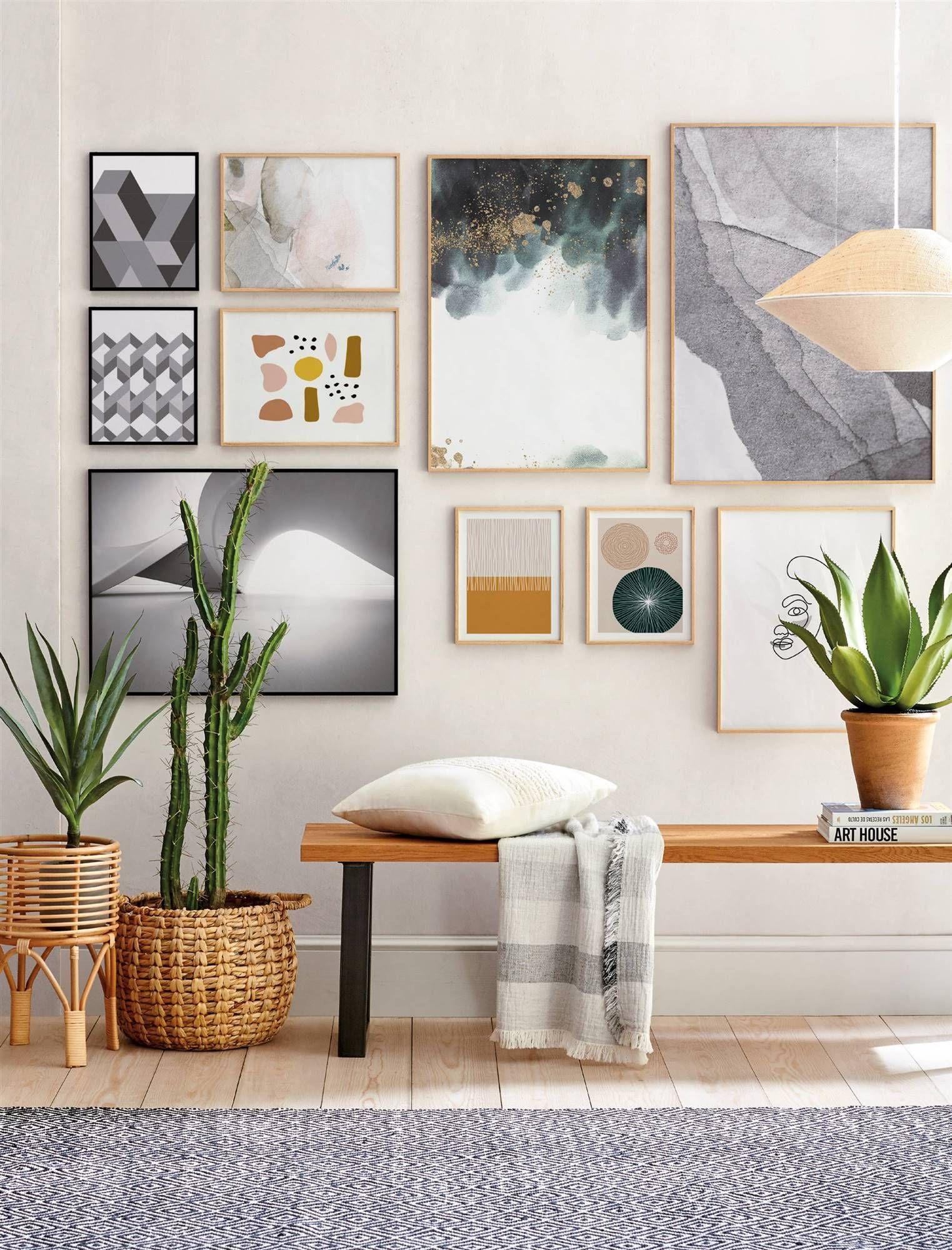 50 Ideas Para Decorar Con Fotos Y Cuadros Que Te Suben El ánimo En 2020 Decoración De Unas Decoracion De Interiores Decoraciones De Casa