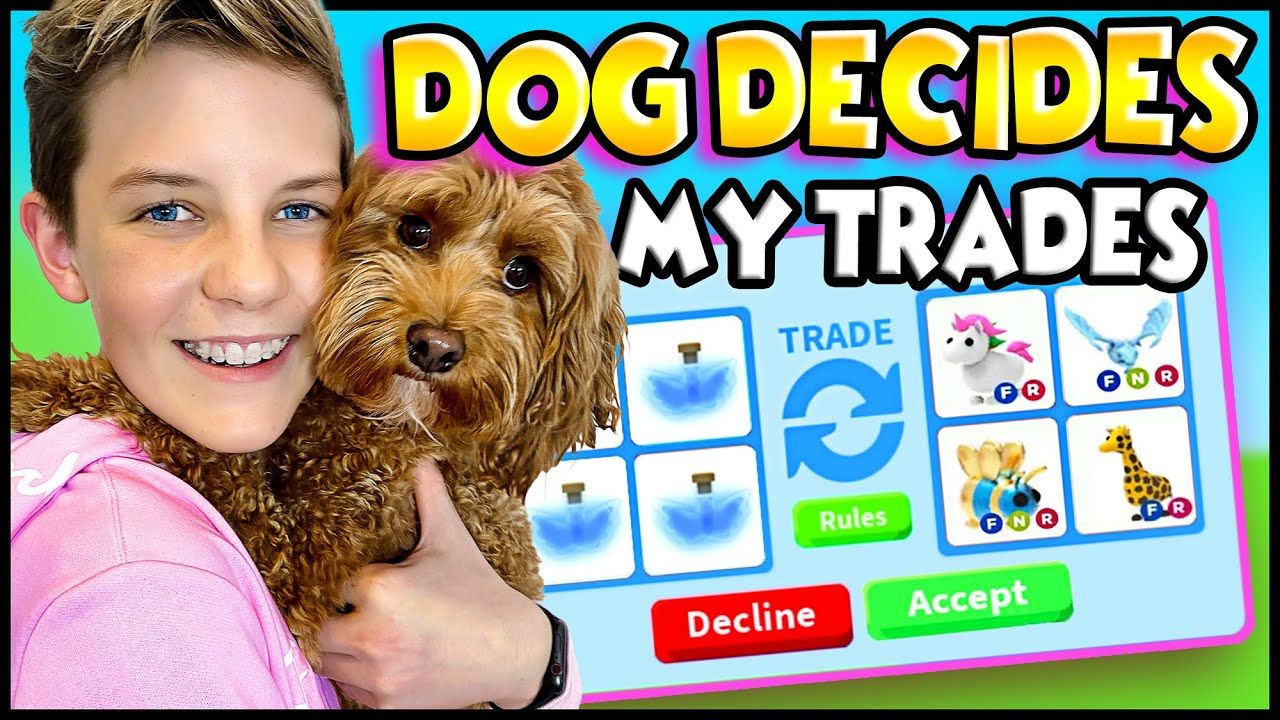 My Dog Decides My Trades In Adopt Me Roblox Adopt Me Trading Prezley In 2020 Adoption Roblox My Roblox