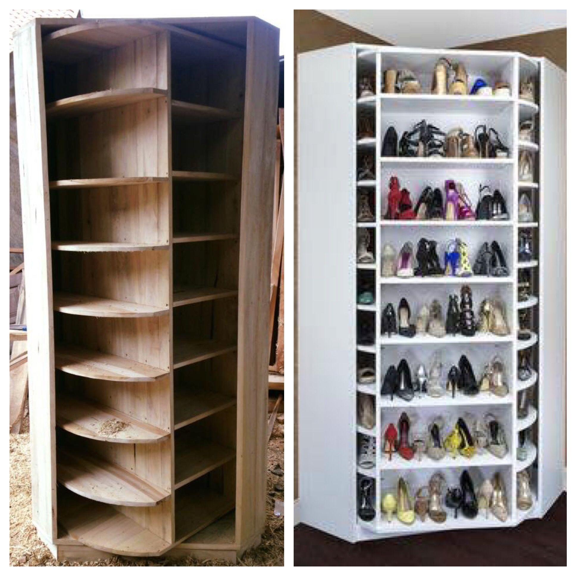 Superieur Lazy Susan Shoe Storage   Brilliant!