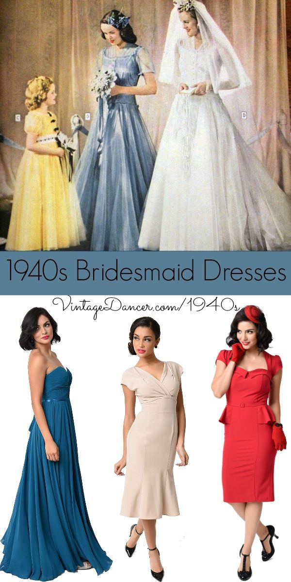 1940s Bridesmaid Dresses, Mother of the Bride | 1940s wedding ...