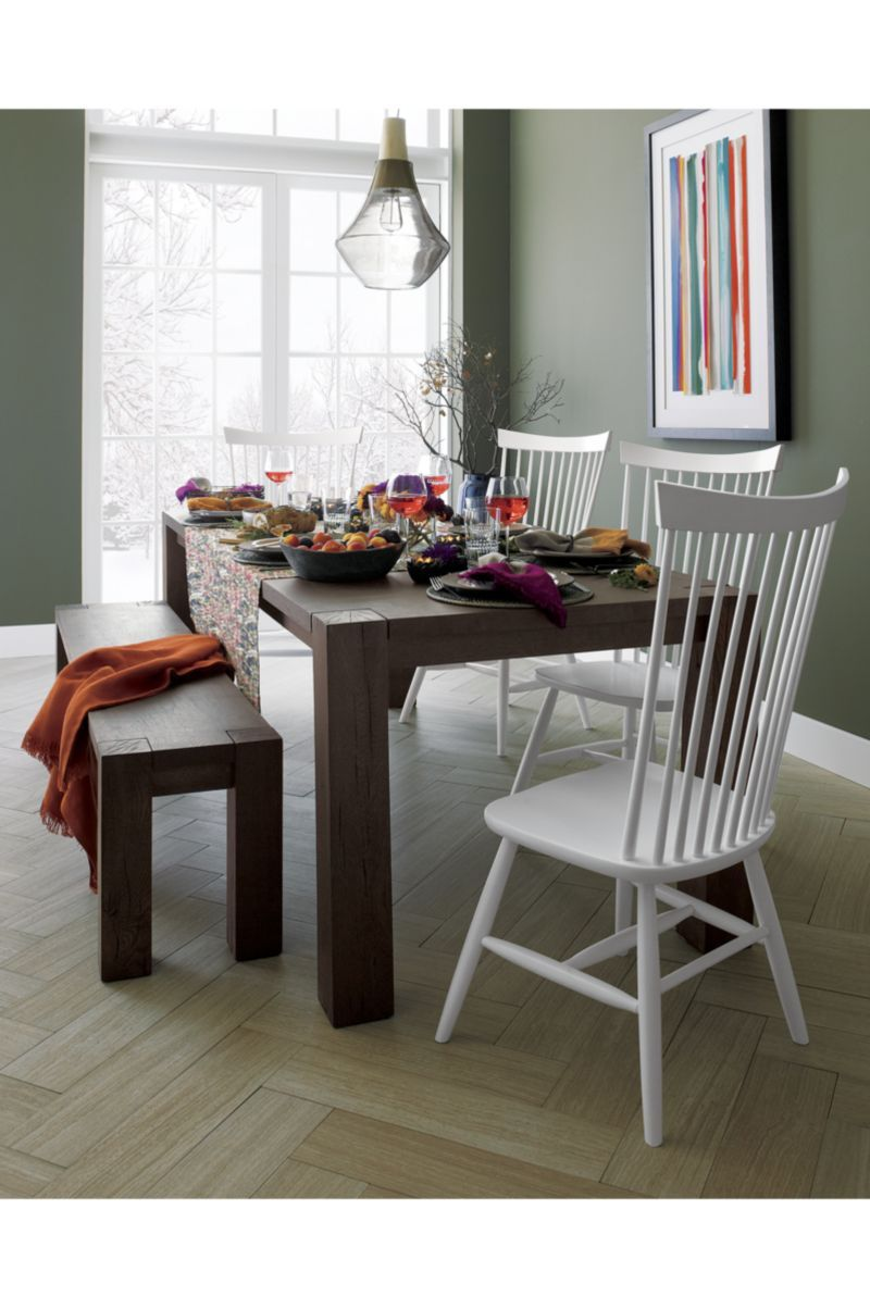Big Sur Charcoal 65 Dining Table Crate And Barrel Narrow