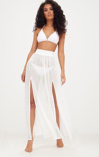 70f0d191d4 Minah White Mesh Maxi Skirt | Spring Break in 2019 | White maxi ...