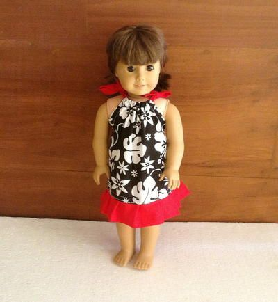 Pillowcase Dress Pattern for !8 Inch American Doll #americandolls