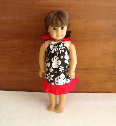 Pillowcase Dress Pattern for !8 Inch American Doll #americandolls
