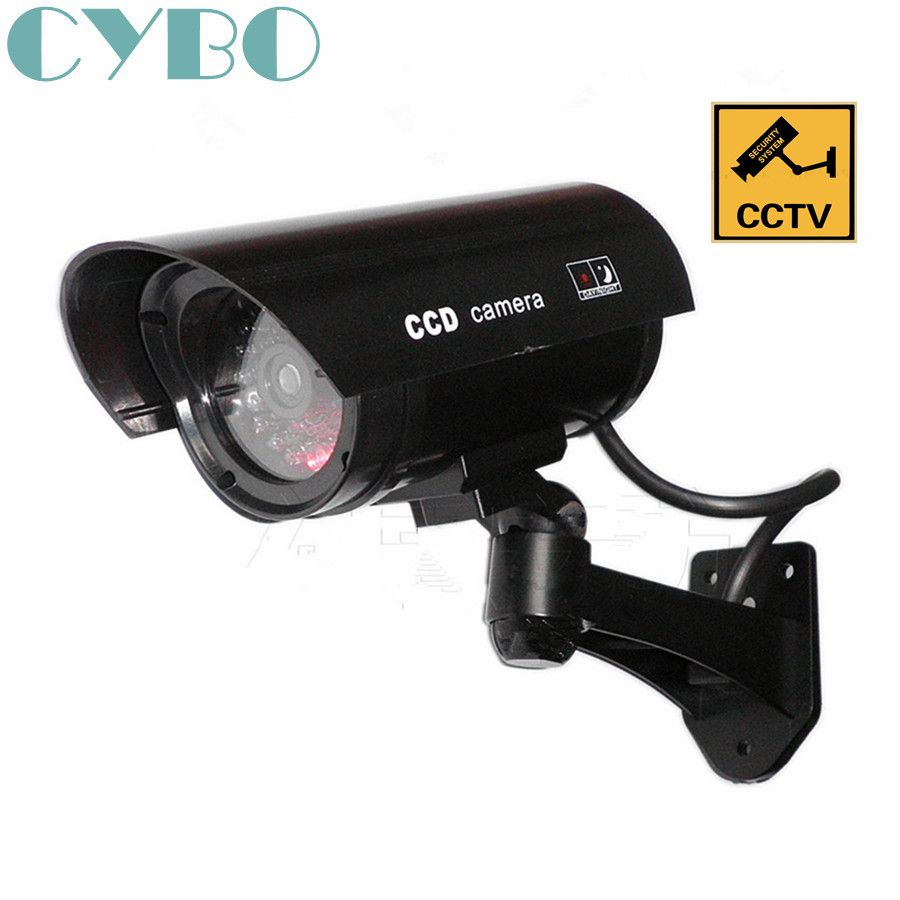 Imitation Factice Faux Caméra Surveillance de Sécurité à Energie Solaire à LED