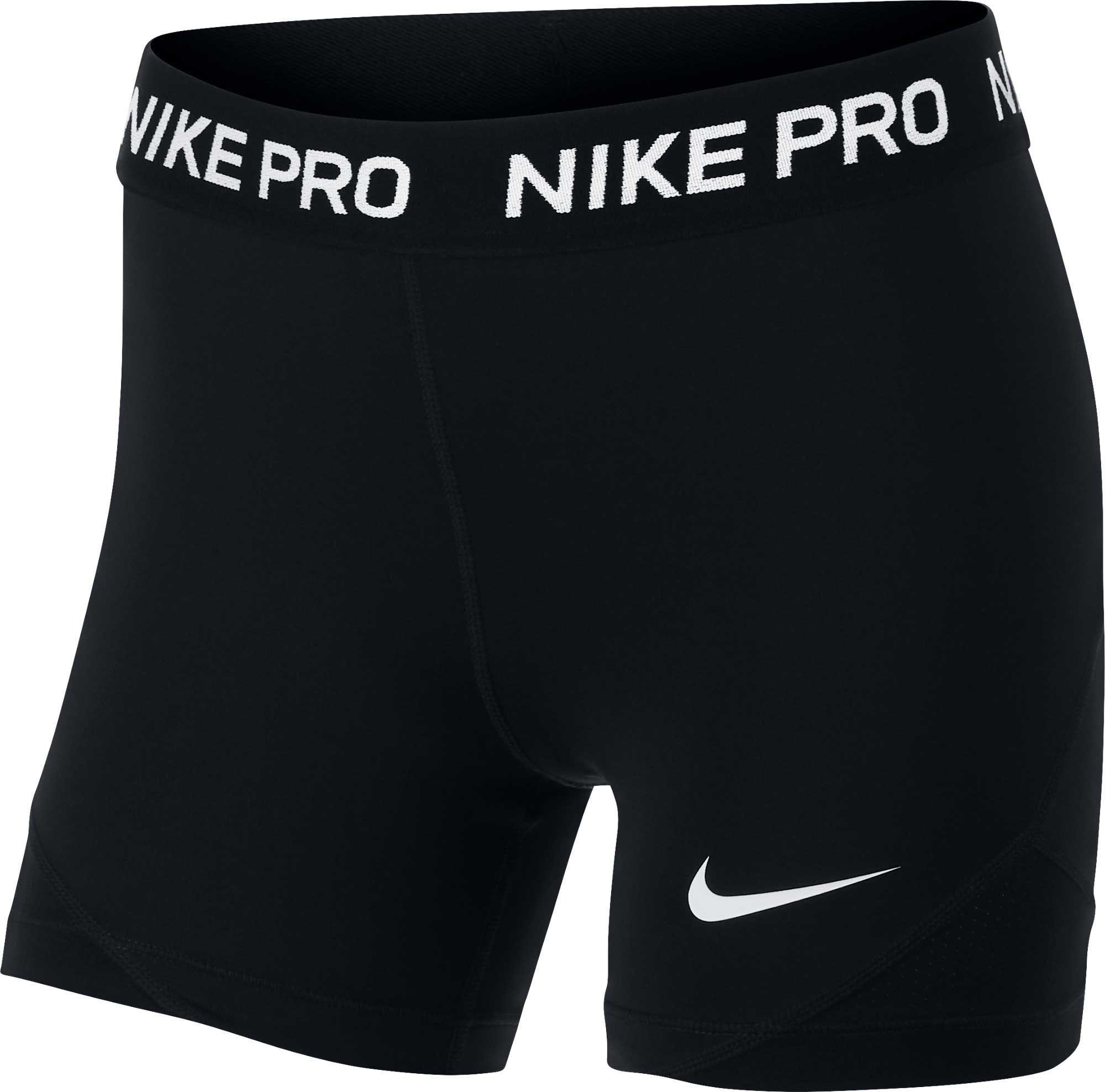 Nike Pro Girls' 4'' Shorts, XS, Black in 2020 Nike pros