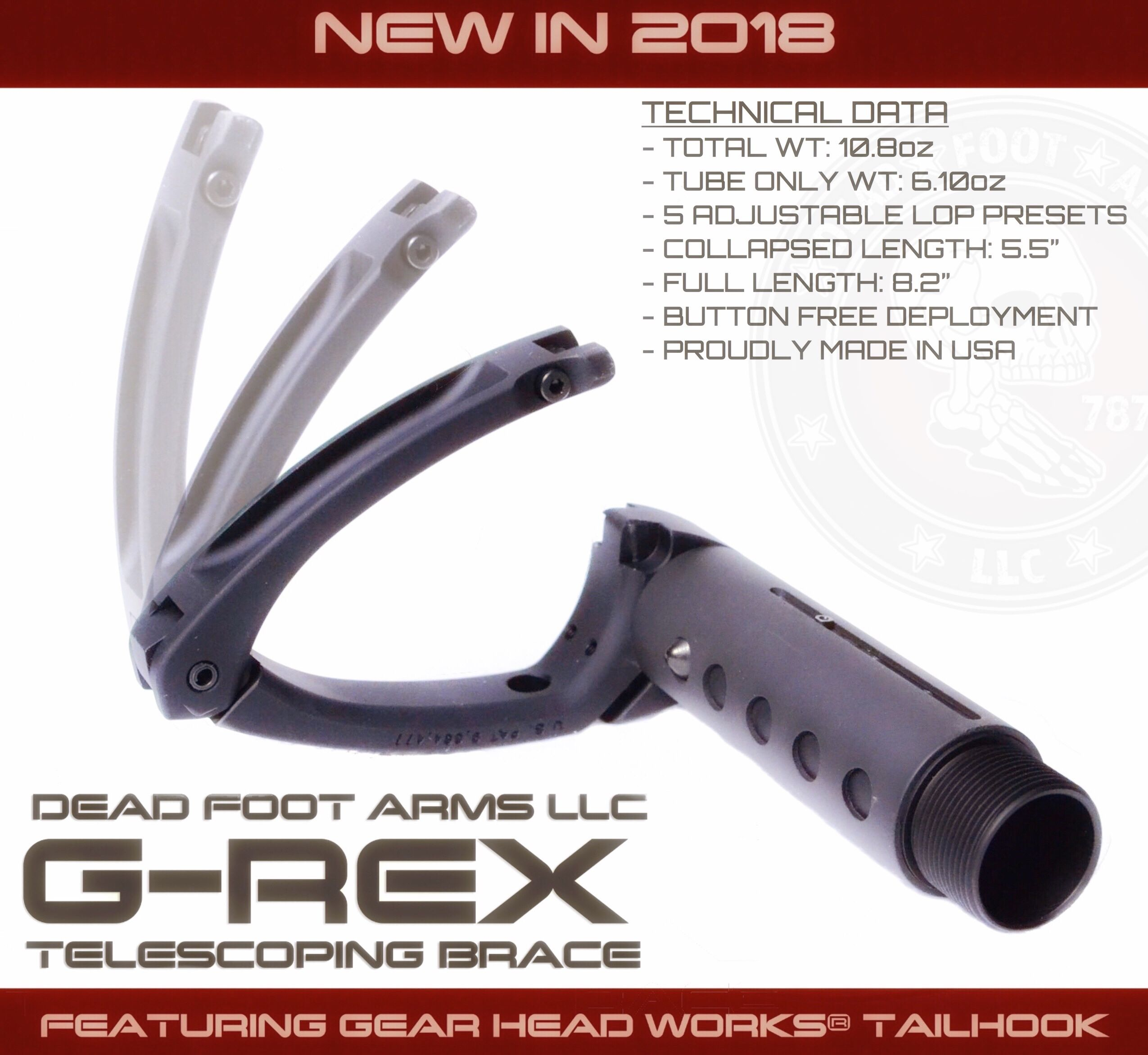 AR15 Side Folding Stocks & Accessories   Dead Foot Arms