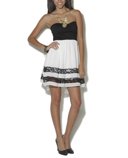Lace chiffon 2fer dress on sale