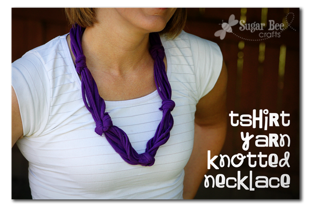 t shirt knotted necklace