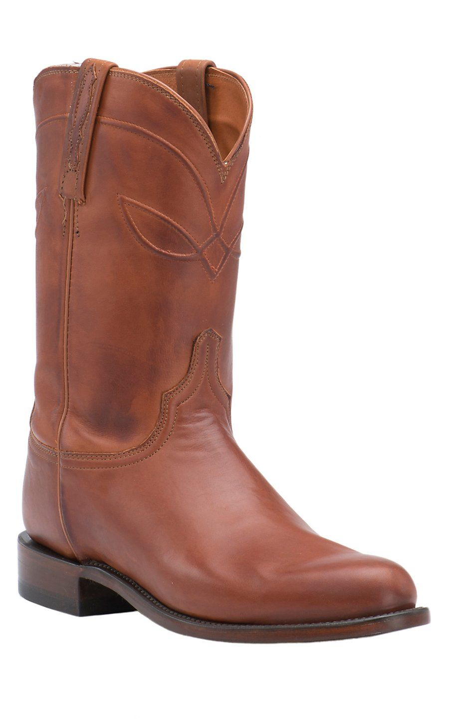 Lucchese 1883 Men S Cognac Burnished Ranch Hand Roper Boot