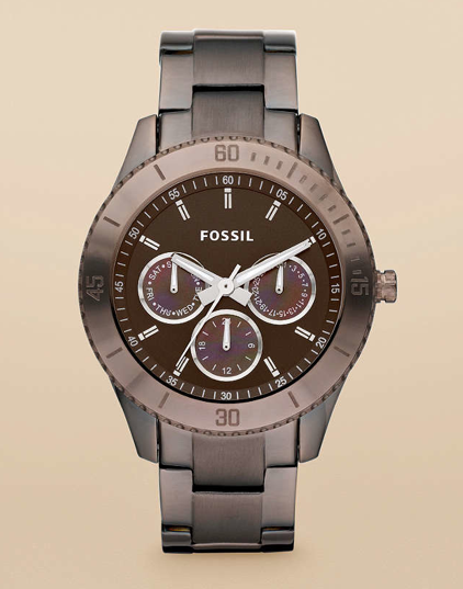 fossil uhr mit horn armband