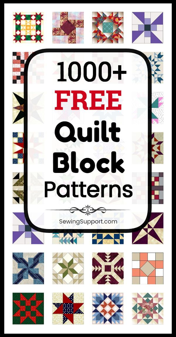 1000+ Free Quilt Block Patterns #modernquiltingdesigns