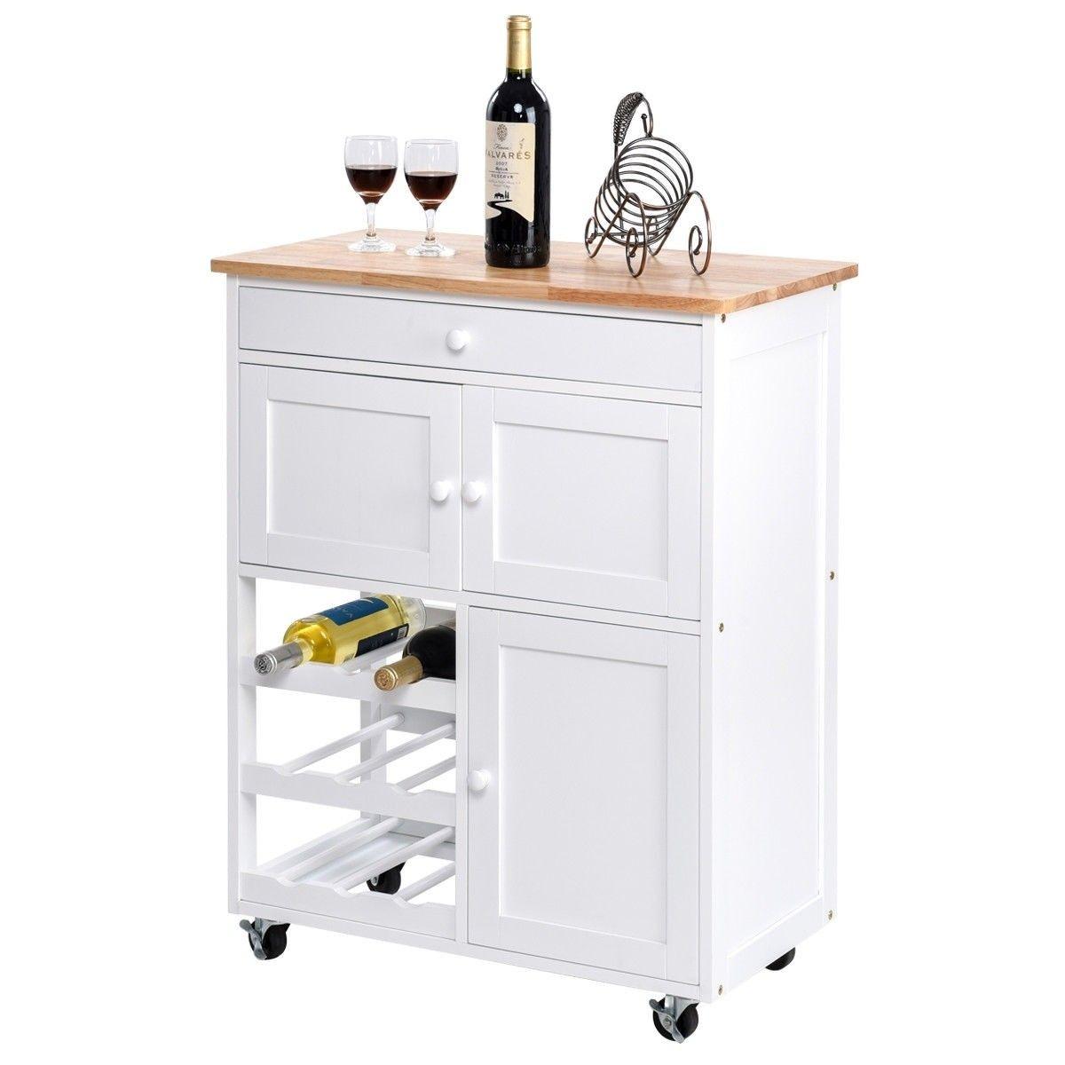 Modern Rolling Storage Kitchen Cart With Drawer With Images Kitchen Cart With Drawers Kitchen Cart Island Storage