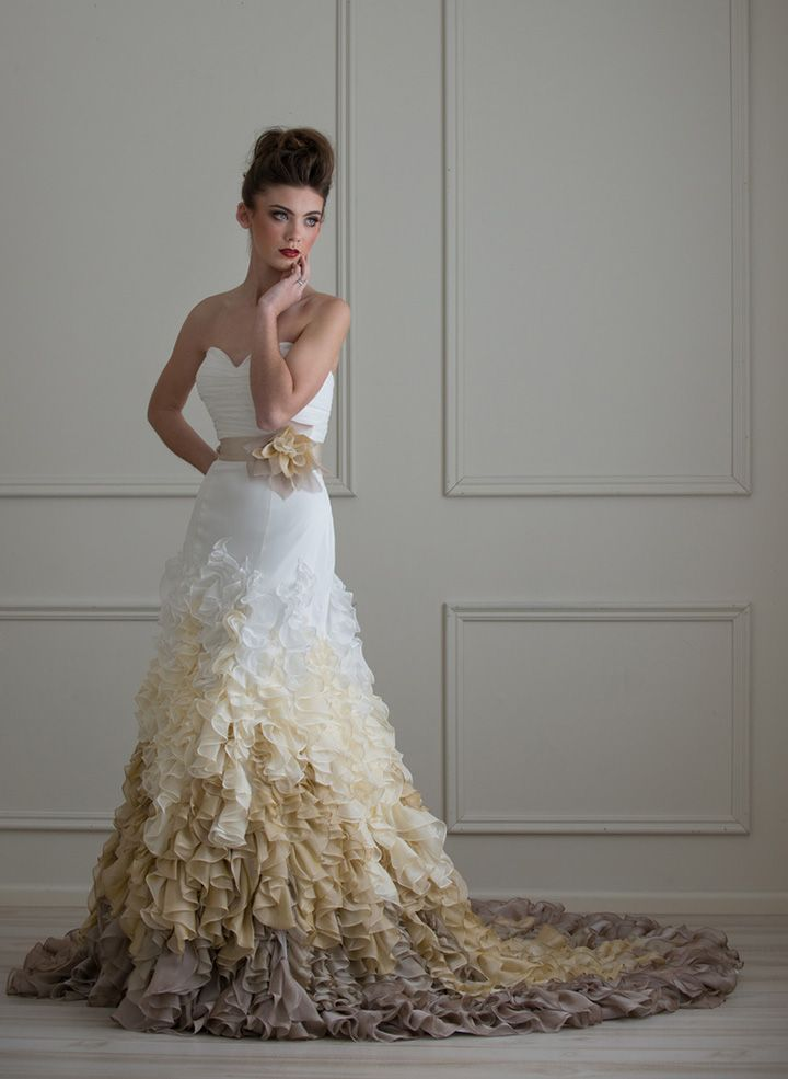 Wedding Gowns with Black Accents | Black accents, Gowns and Weddings