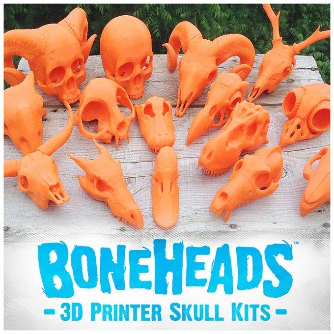 3D Printer Skull Kits: Boneheads Series 2 via 3DKitbash.com