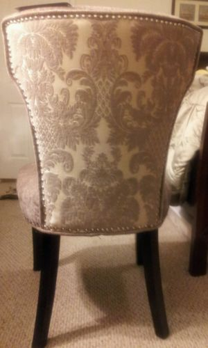 cynthia rowley nailhead accent chair floor gaming ebay makeup room decor