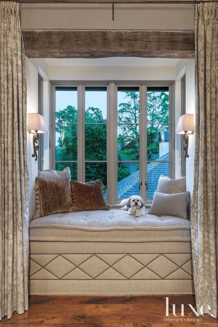 Master bedroom entry  Traditional Master Bedroom Window Seat  Dogs are the best people