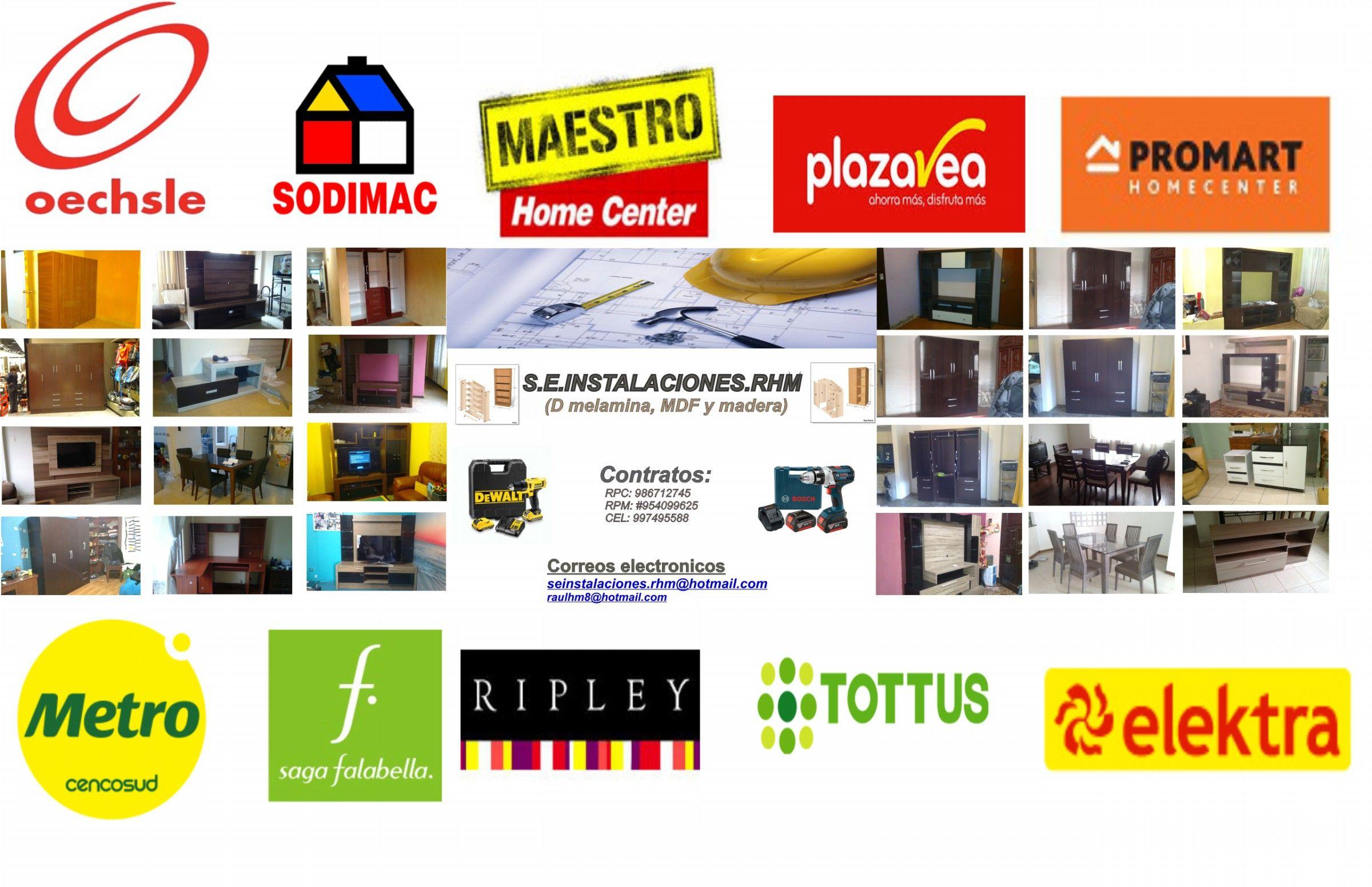 Logotipo De Seinstalaciones Rhm Cotratos Para El Armado De Muebles  # Muebles Falabella Santiago