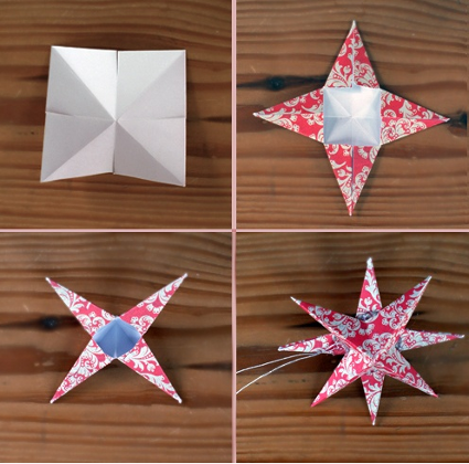 Estrellas de papel para el rbol de navidad estrellas de - Estrellas de papel ...