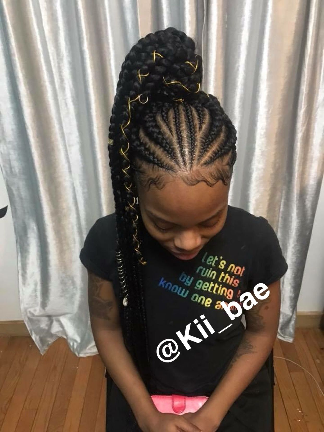 pinterest: kii_bae | slay my shit‼️ | kids braided
