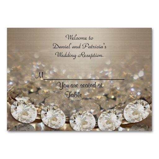 Wedding place cards diamonds wedding place cards business cards wedding place cards diamonds colourmoves