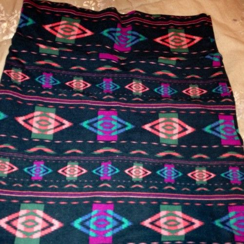 Forever21 Colorful Tribal Cotton Skirt