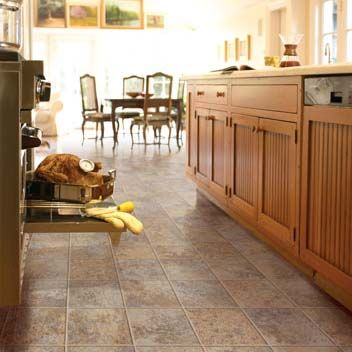 Vinyl flooring kitchen on pinterest for Vinyl floor ideas for kitchen