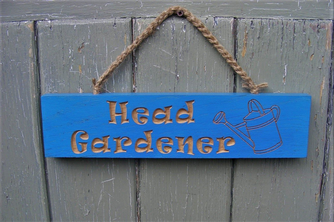 Head Gardener Hanging Plaque