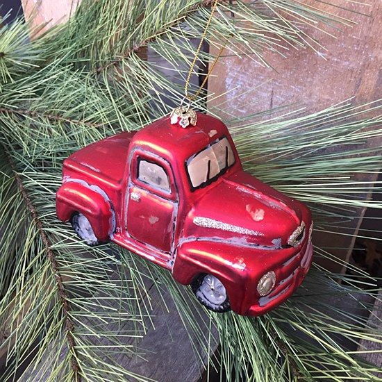 Christmas Tree Disposal San Diego: Truck Ornament: This Adorable, Red Pickup Truck Ornament