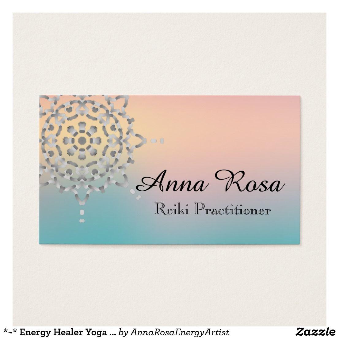 Energy Healer Yoga Massage Meditation Reiki Business Card ...