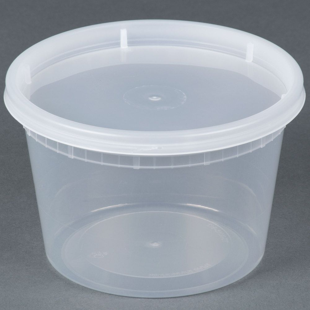 Microwavable Translucent Plastic Deli Container And Lid Combo Pack 240 Case