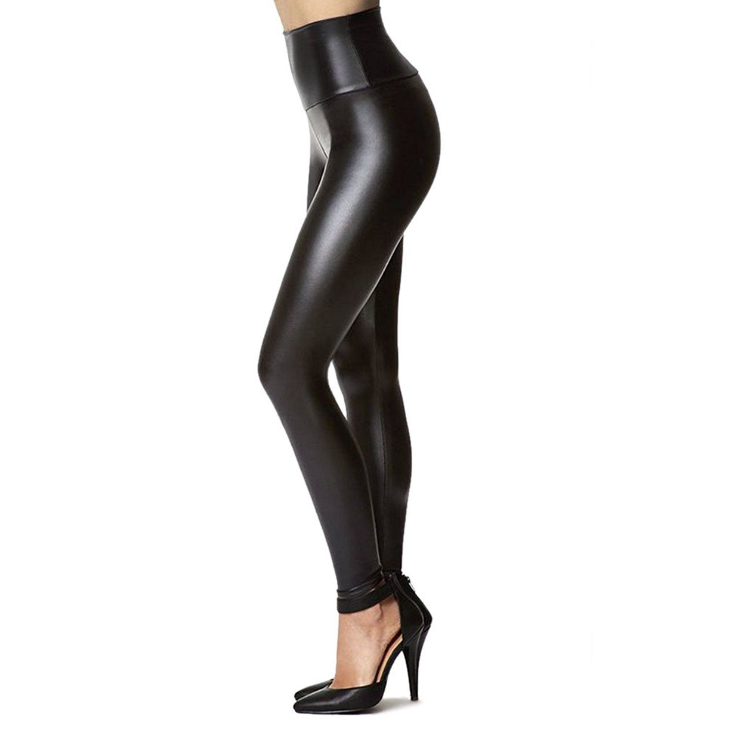 Womens Black Faux Leather Leggings Pants Valentines Day Gifts For