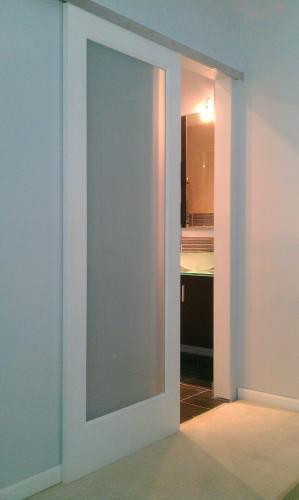 Feather River Doors 24 In X 80 In Privacy Smooth 1 Lite Primed Mdf Interior Door Sliding Doors Interior Door Design Interior French Doors Interior