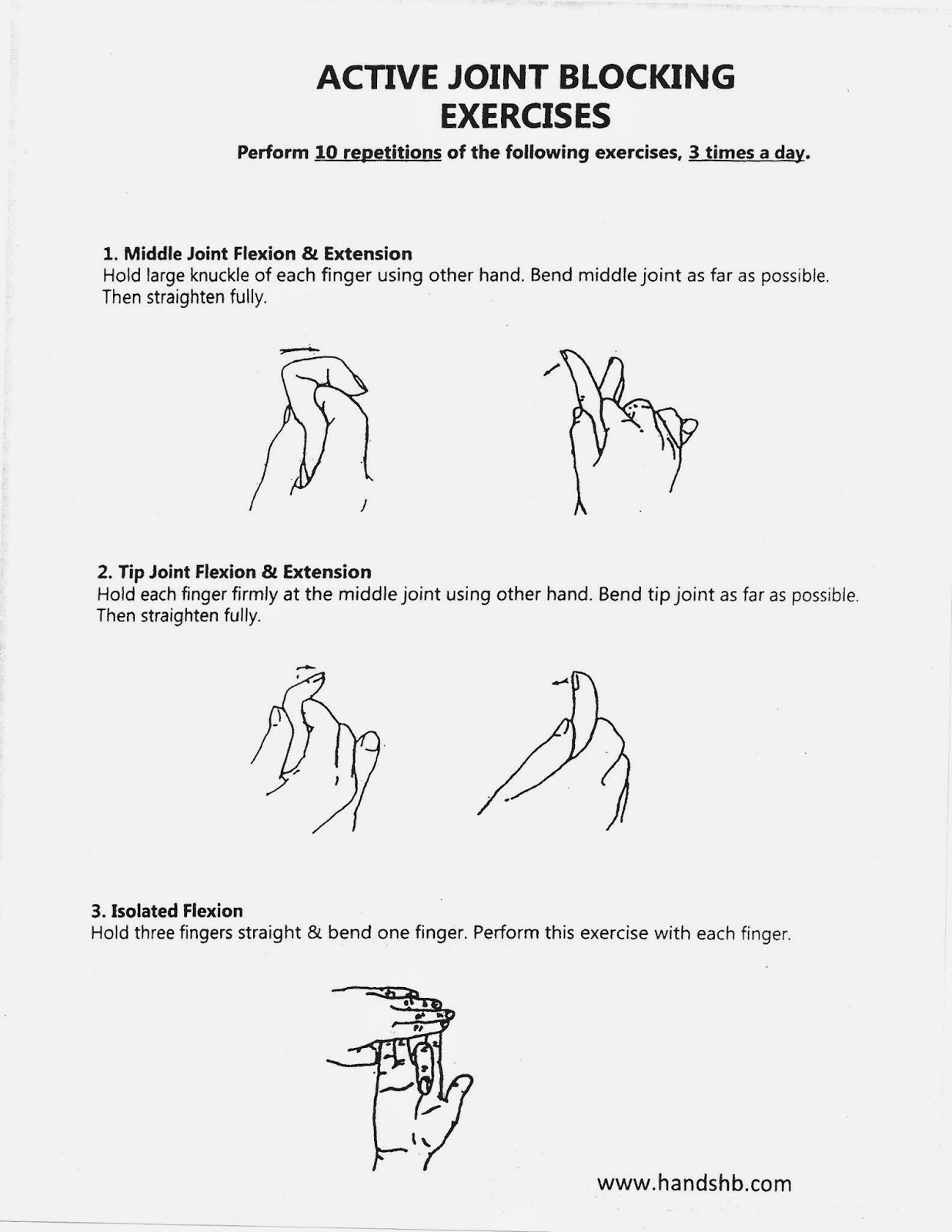 HB Hands: Active Joint Blocking Exercises | Oldy OT | Pinterest ...