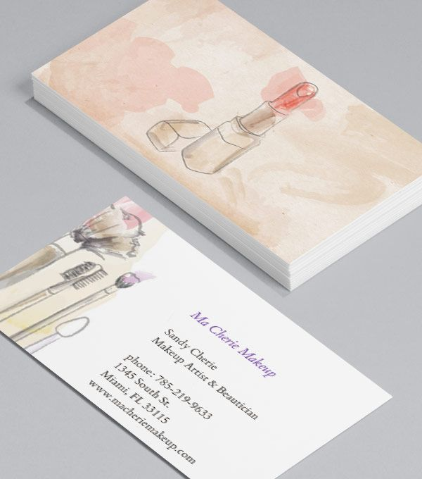 Vintage floral striped salon business card vintage floral lets kiss and makeup its time to give your old business cards a makeover colourmoves