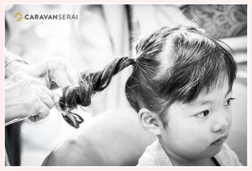 Photo of Shichigosan Hair Preparation Scene Ogaki City, Gifu Prefecture