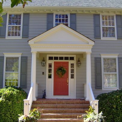 Colonial exterior design ideas pictures remodel and - Colonial house exterior renovation ideas ...