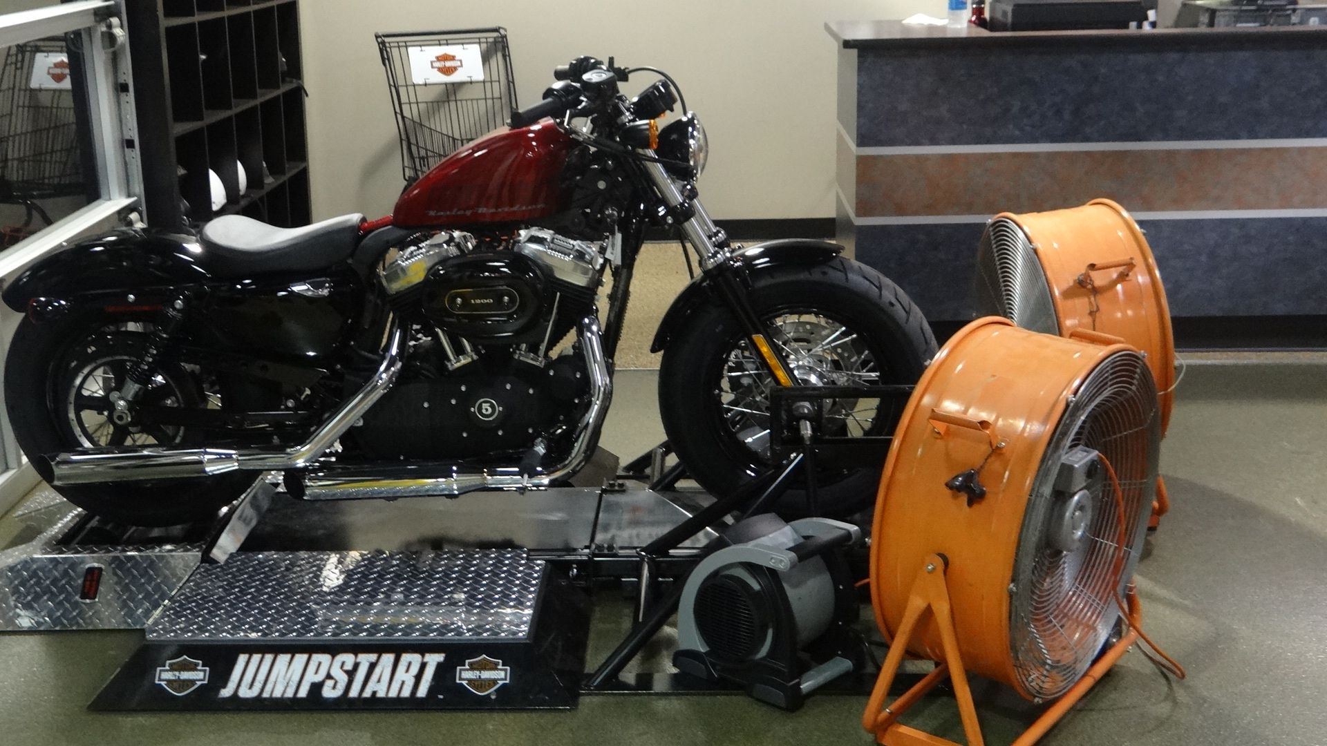 The Jumpstart Set Up With A 2013 Sportster 48 On It With Images