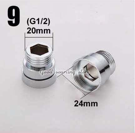 16 18 20 22 24mm G3/4 G1/2 kitchen water purifier faucet aerator adapter, water purifier accessories