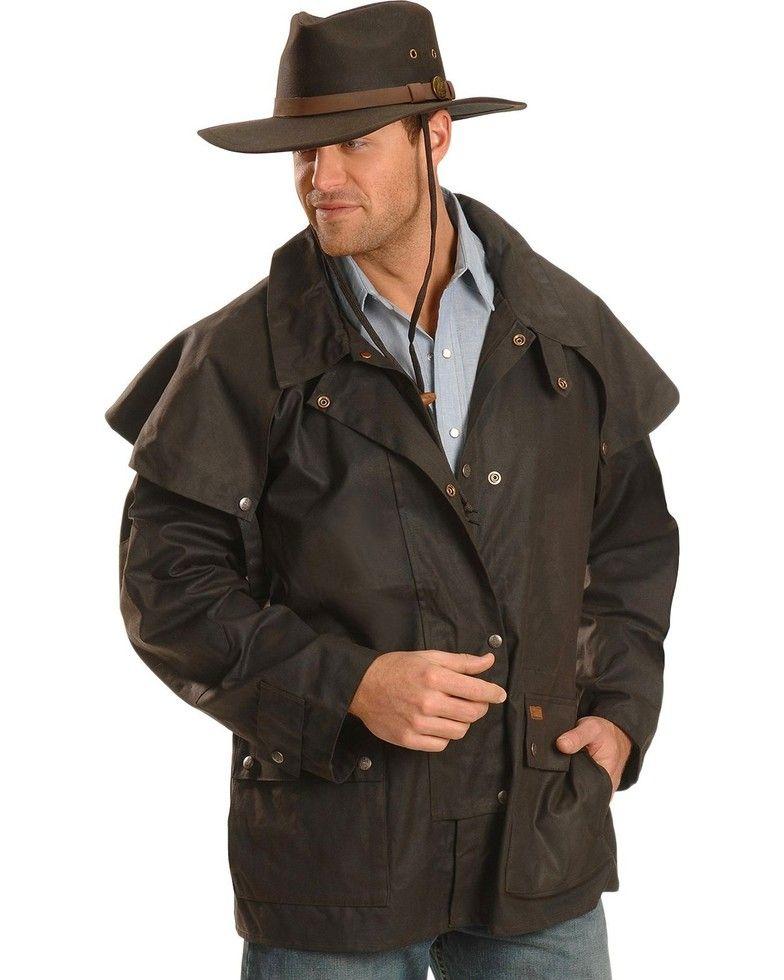 Outback Trading Co Men S Short Oilskin Duster In 2020 Duster Jacket Short Duster Jacket Oilskin Duster