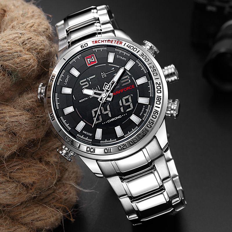 Relojes Hombres Naviforce Militar Pulsera Cuarzo Corchete Plegable Con Seguro Calendario Resistente A Los G Reloj De Hombre Relojes Deportivos Relojes Modernos