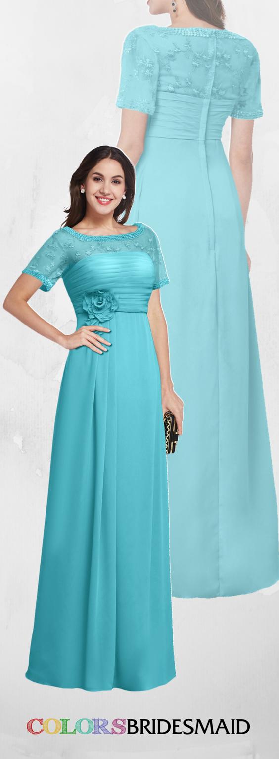 Colsbm amanda turquoise traditional short sleeve zip up chiffon