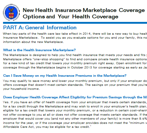 Open Enrollment For Health Insurance Coverage Through The