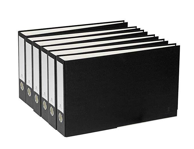 11x17 Storage Bindertek 3 Ring 2 Inch Premium Linen Textured Ledger Binder 6 Pack For 11 X 17 Paper Black 3ldgpack Bk Storage 11x17