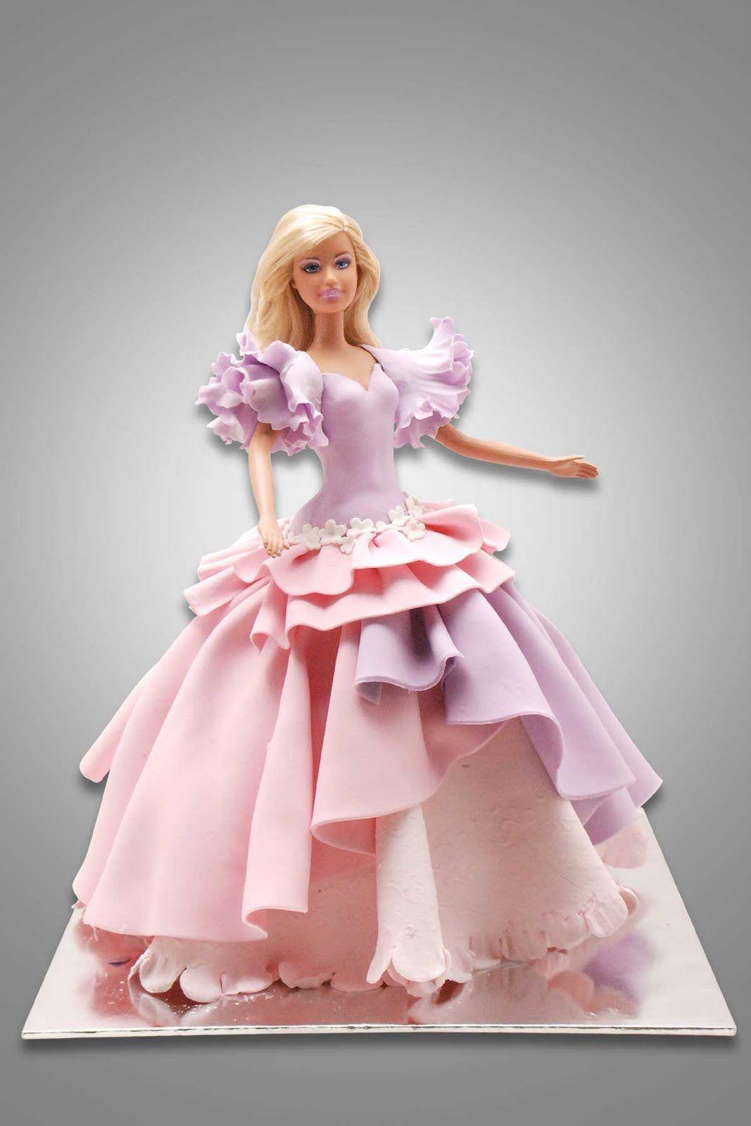Barbie doll princess cake bolo rosa pinterest beautiful