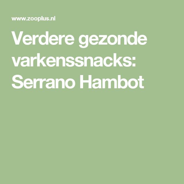 Verdere gezonde varkenssnacks: Serrano Hambot