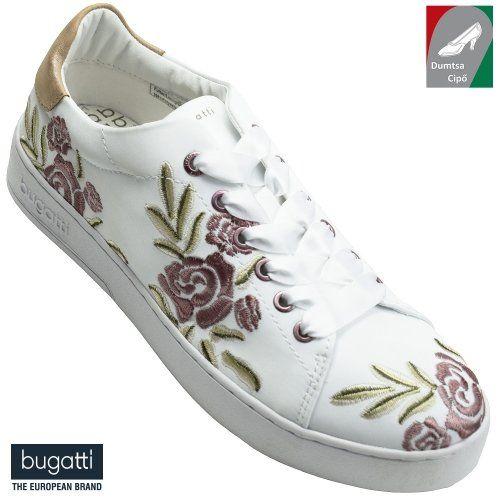 Bugatti női cipő 421-29105-6959-2081 fehér virágmintás  8bd19c381a