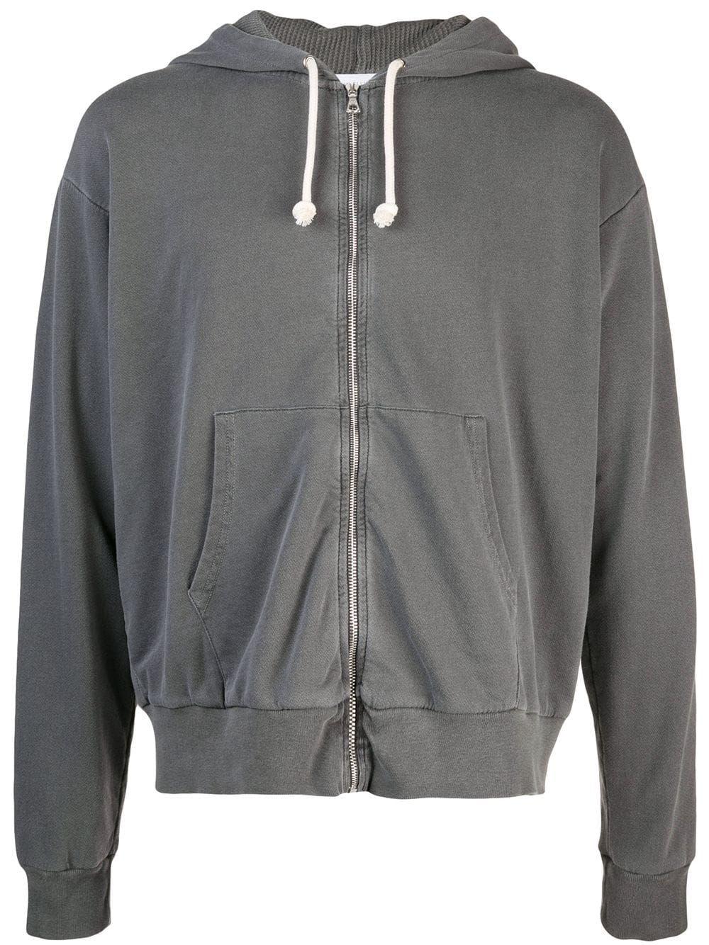 John Elliott Zipped Up Hoodie Grey Grey Hoodie Zip Ups Hoodies